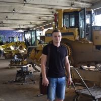 Smiltenes tehnikuma jaunais skolotājs Dāvis Stradiņš